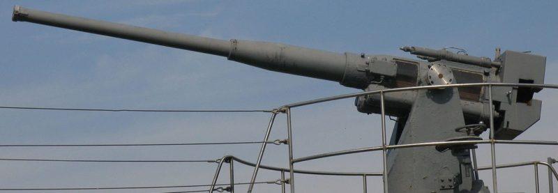 Корабельное орудие Б-24 ПЛ обр. 1936/1939 г. Установленное на подводной лодкеД-2