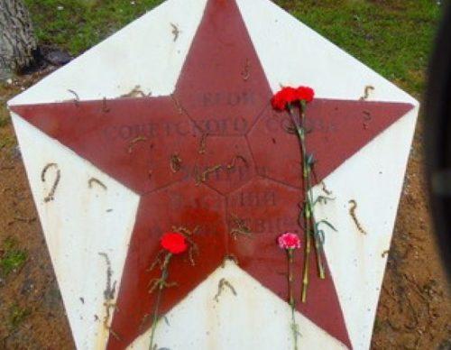 г. Белогорск. Одна из звезд героев войны, установленная на алее