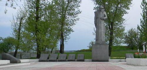 с. Бригадировка Балаклейского р-на. Общий вид братской могилы