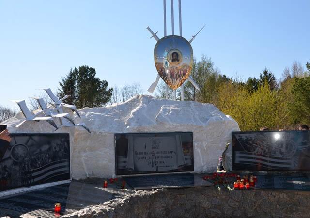Окрестности села Возжаевка Белогорского р-на. Памятник воинской славы