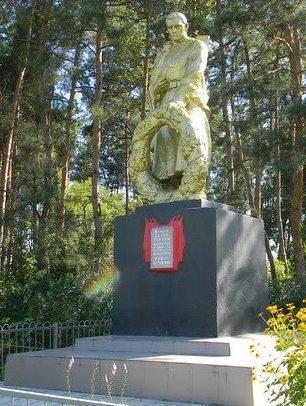 с. КручикБогодуховского р-на. Памятник установлен на братской могиле, в которой похоронено 19 воинов, в т.ч. 10 неизвестных. У памятника размещена мемориальная доска с именами погибших земляков в годы войны.