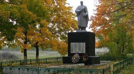 с. Волобуевка Балаклейского р-на. Памятник погибшим воинам.
