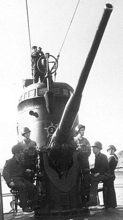 Корабельное орудие Б-24 ПЛ обр. 1936/1939 г. Установленное на подводной лодке К-22