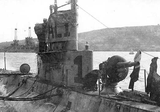 """Корабельное орудие 3""""/23.5 Mk-9 на подлодке"""