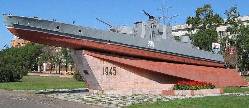 г. Благовещенск. Речной артиллерийский катер