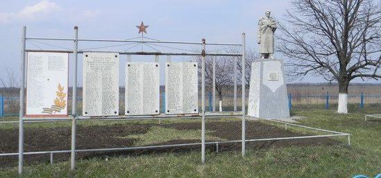 с. Глазуновка Балаклейского р-на. Общий вид братских могил