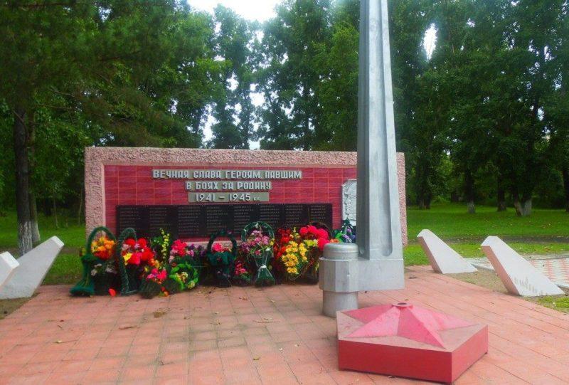 с. Березовка Ивановского р-на. Памятник воинам-землякам