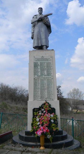 с. Копанка Балаклейского р-на. Памятник в центре села установлен на братской могиле 422 воинов, в т.ч. 273 неизвестных, погибших в боях при освобождении села.