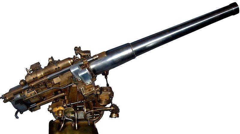 модель корабельной пушки 138-mm Modèle 1927