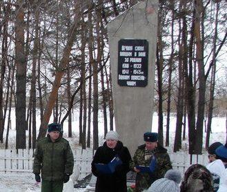 с. Чесноково Михайловского р-на. Памятник погибшим воинам в годы войны