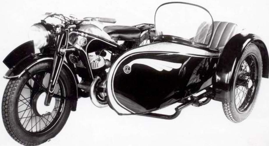 Мотоцикл CZ-500 с коляской