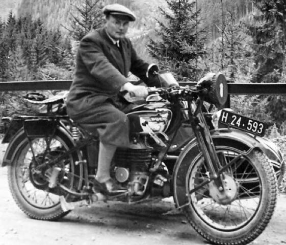Мотоцикл Puch 500-VL с коляской