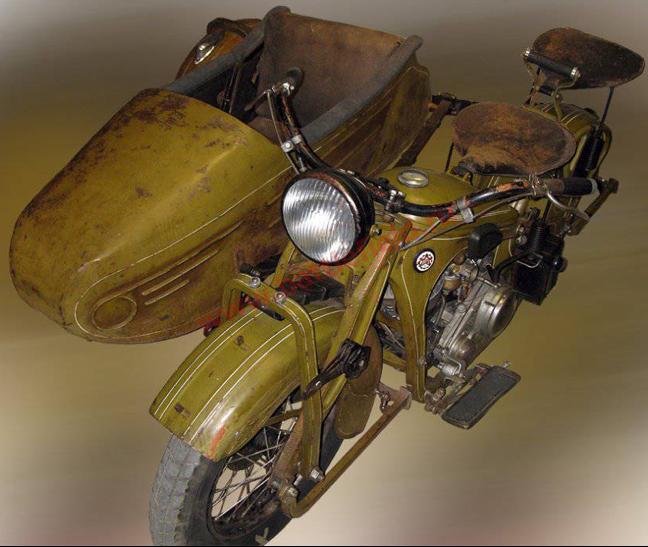Мотоцикл ПМЗ А-750 с коляской