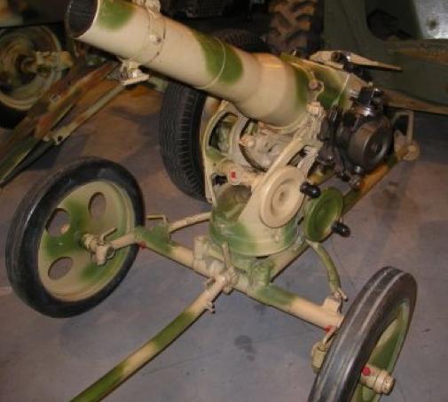 Безоткатное орудие - 7,5-сm LG -40, серийный рейнметалловский образец 1940 г. без щита