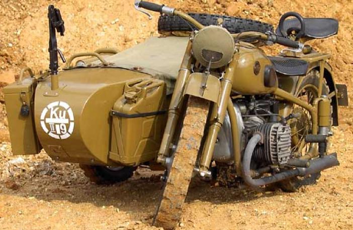 Мотоцикл М-72 с коляской