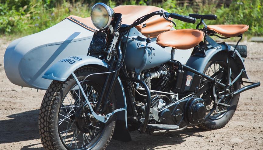 Мотоцикл Harley-Davidson ES с коляской