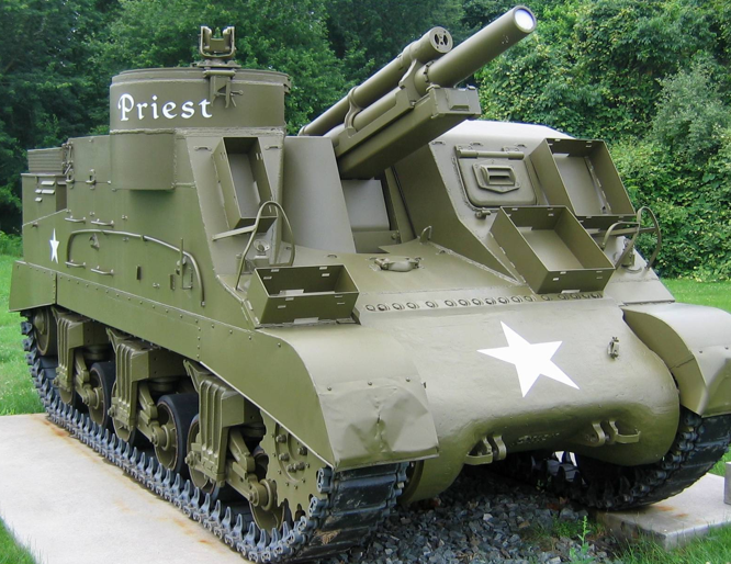 САУ  105-mm Howitzer Motor Carriage M-7  (Priest)