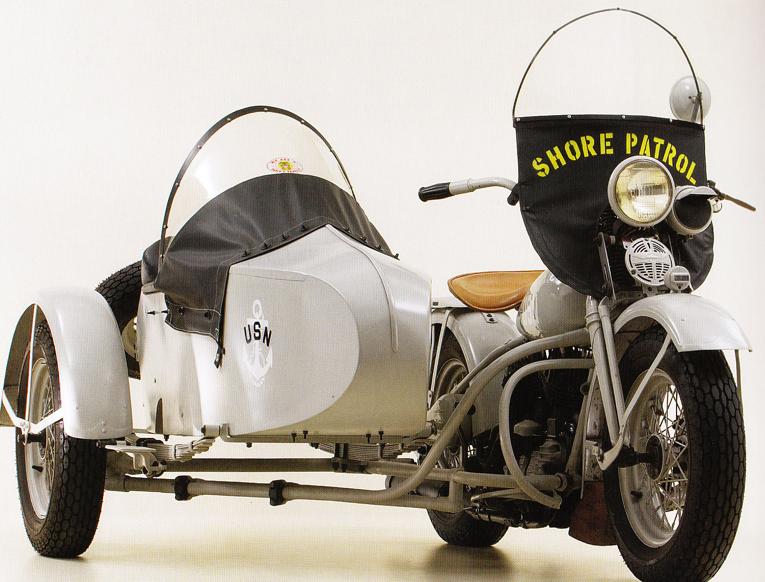 Мотоцикл Harley-Davidson U с коляской