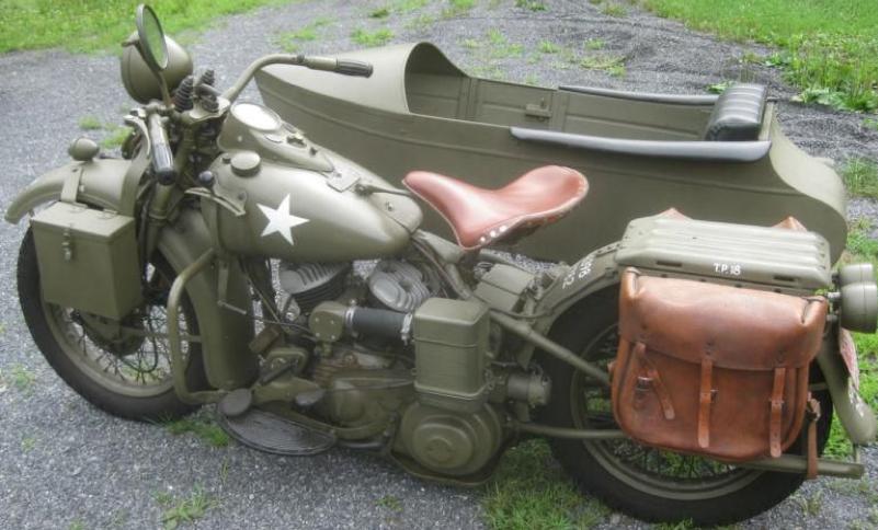Мотоцикл Harley-Davidson WLA-45  с коляской