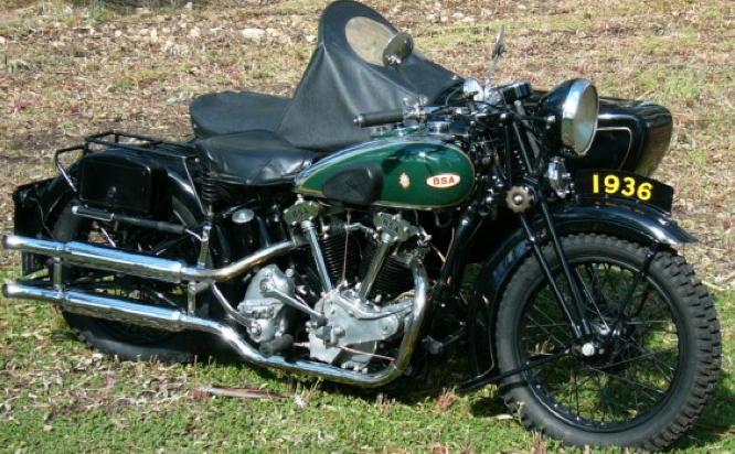 Мотоцикл BSA Y-13 с коляской