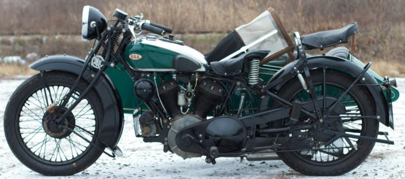 Мотоцикл BSA Y-14 с коляской