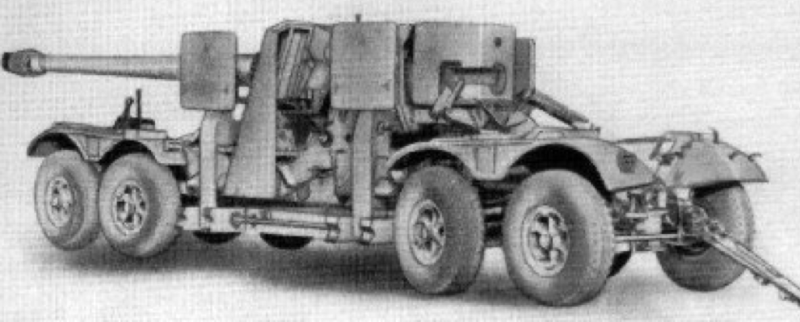 Рисунок полевой пушки 15-cm SKC/28 Moerserlafette
