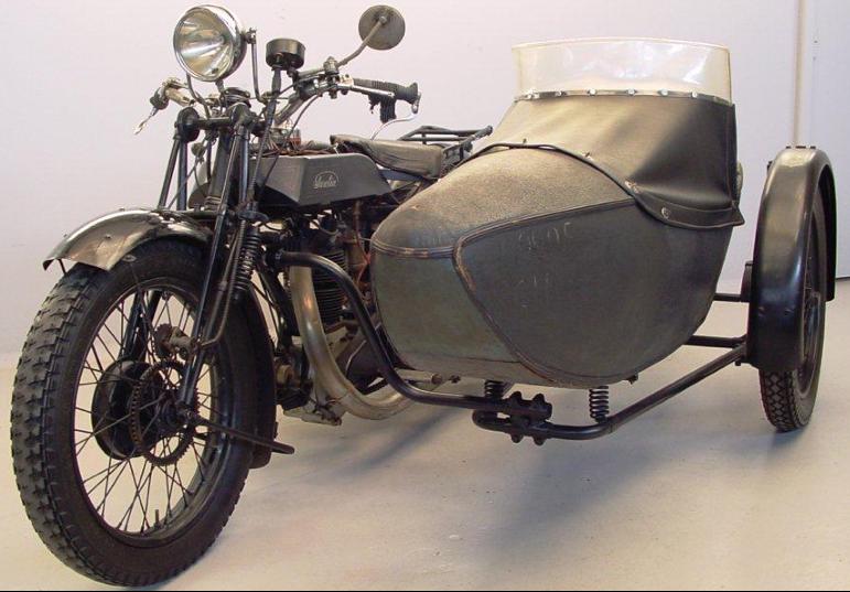 Мотоцикл Sarolea 500 23-S с коляской