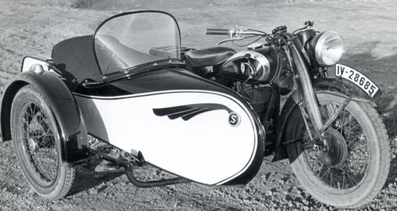 Мотоцикл DKW SB-500 с коляской