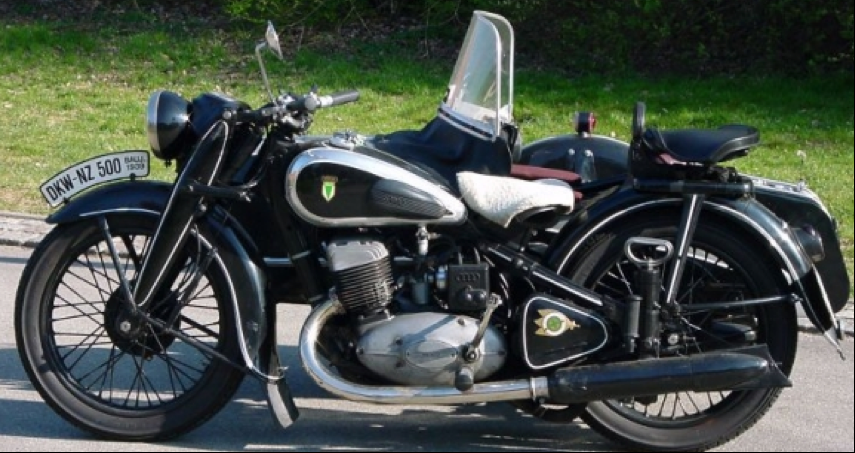 Мотоцикл DKW NZ-500 с коляской