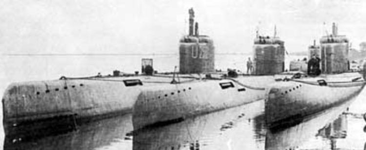 Подводные лодки «U-2502», «U-3514» и «U-2518»