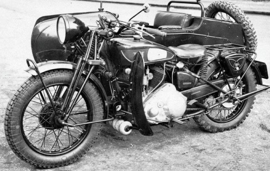 Мотоцикл Terrot 350 HSTA с коляской