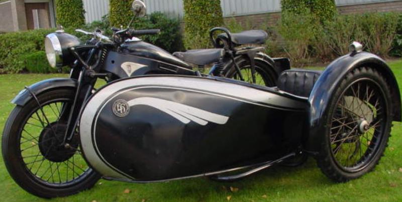 Мотоцикл Zundapp K-500W с коляской