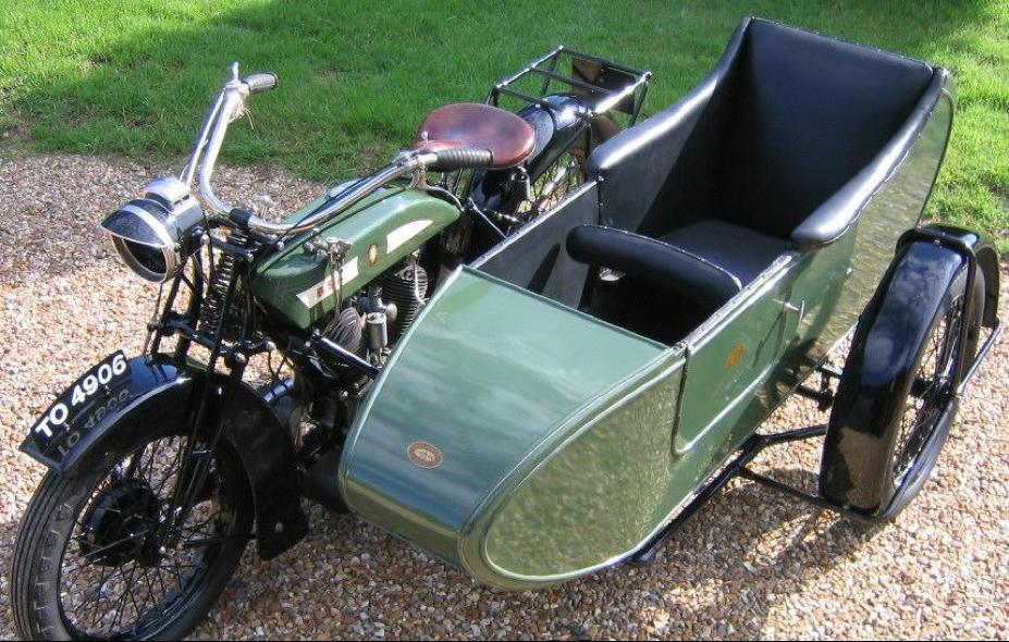 Мотоцикл BSA G-14 с коляской