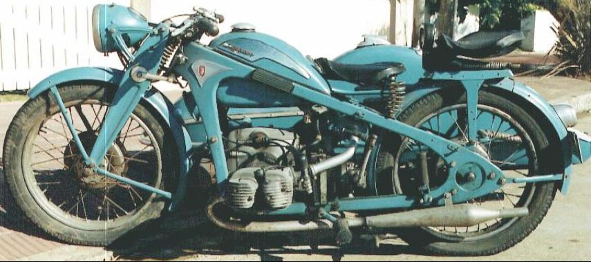 Мотоцикл Zündapp KKS-500 с коляской