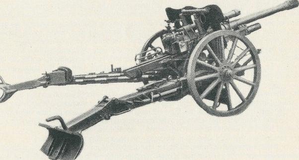 полевая пушка 7.5-cm FK-38 с колесами с деревянными спицами