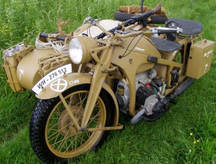 Мотоцикл Zündapp KS-600W с коляской