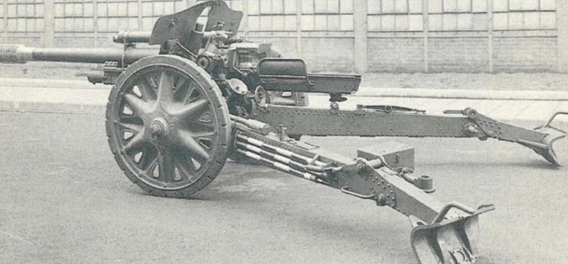 Полевая пушки 7.5-cm FK-38 с резиновым ходом