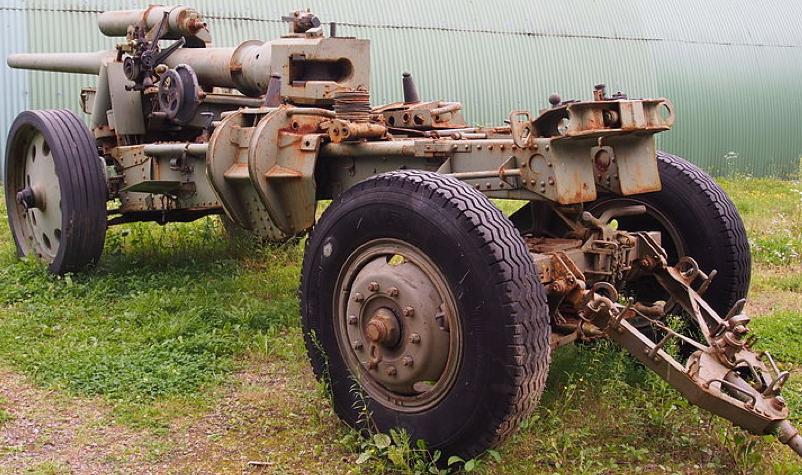 Полевая пушка 10-cm Kanone 1, в походном положении