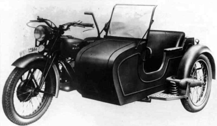 Мотоцикл Guzzi 500 Alce с коляской