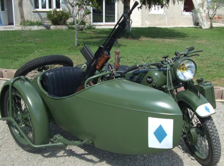 Мотоцикл Terrot RDA с коляской