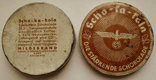 Шоколад для армии. Круглая плитка делилась на 8 равных долек. В каждой дольке шоколада содержалось около 12 мг кофеина.