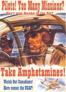 Один из американских плакатов времен Второй мировой, агитирующих за применение амфитамина.