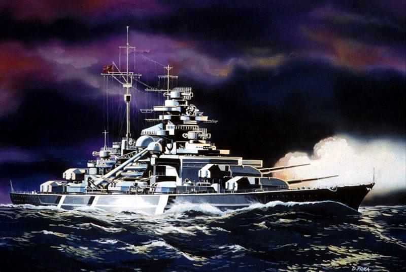Frka Danijel. Линкор «Bismarck».
