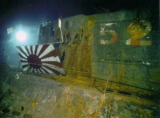 По просьбе японцев, глубоководными аппаратами на рубке был закреплен японский флаг