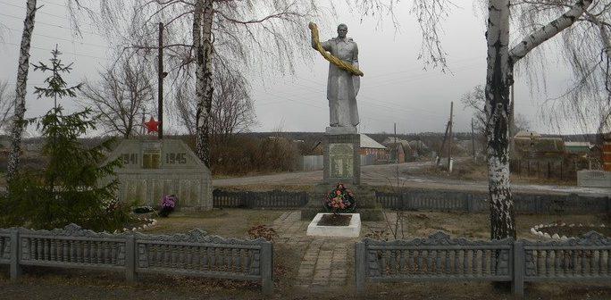 с. Должик Золочевского р-на. Общий вид братской могилы