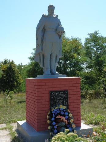 с. Ольшана Двуречанского р-на. Братская могила советских воинов