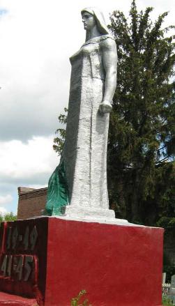 г. Волчанск. Памятник на кладбище по улице Надежды Волковой, установлен на братской могиле, в которой похоронено 152 советских воина