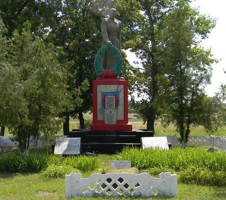 с. Червоный Жовтень Зачепиловского р-на. Памятник  в центре села, установлен на братской могиле, в которой похоронено 8  воинов. На мемориальных плитах увековечены имена 61 земляка, погибшего на войне.