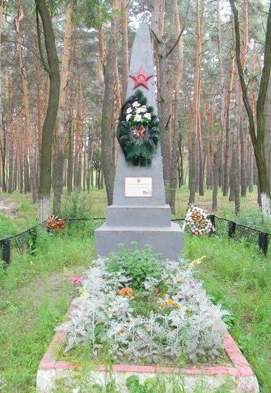 п. Малая Даниловка Дергачевского р-на. Братская могила у лесничества воинов, погибших при освобождении поселка