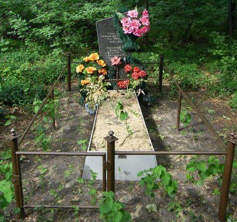 с. Мироновка Золочевского р-на. Памятник лесу, в километре от села, установлен на братской могиле погибших воинов